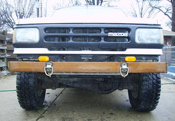 The Ho - the newly fitted front bumper