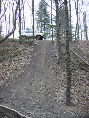 The Ho - Andy approaching a steep slope